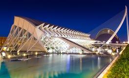 Stad van Kunsten en Wetenschappen in Valencia Stock Fotografie