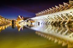 Stad van Kunsten en Wetenschappen in Valencia Stock Foto's