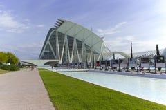 Stad van Kunsten en Wetenschappen in Valencia Stock Foto