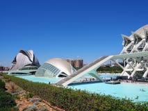 Stad van Kunsten en Wetenschappen, Valencia Stock Foto's