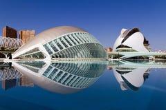 Stad van Kunsten en Wetenschappen Valencia, Spanje Stock Afbeeldingen