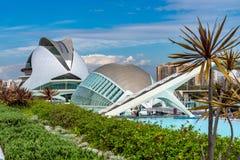 Stad van Kunsten en Wetenschappen in Valencia, Spanje royalty-vrije stock afbeelding