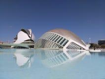 Stad van Kunsten en Wetenschappen van Valencia stock afbeelding