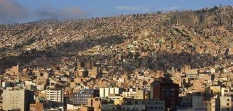 Stad van La Paz in Bolivië stock afbeeldingen