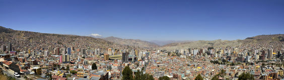 Stad van La Paz Bolivië vanuit het Gezichtspunt van Killi Killi Royalty-vrije Stock Afbeelding