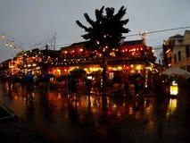 Stad van lantaarns stock foto's