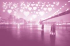 Stad van liefde Stock Foto's