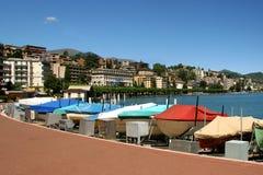 Stad van lugano, Zwitserland royalty-vrije stock fotografie
