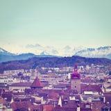 Stad van Luzerne Stock Afbeelding