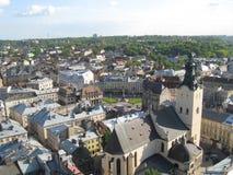 Stad van Lviv Stock Afbeeldingen