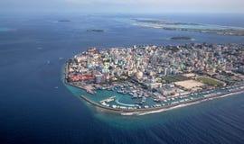 Stad van Mannetje in het gebied van de Maldiven Stock Afbeelding