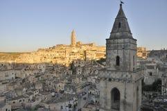 Stad van Matera stock afbeelding
