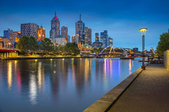 Stad van Melbourne stock foto