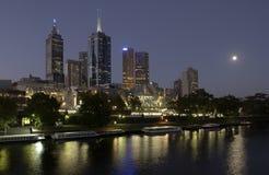 Stad van Melbourne in Australië Stock Foto's