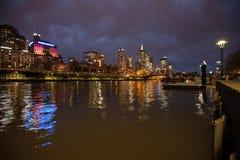Stad van Melbourne Australië Stock Afbeeldingen