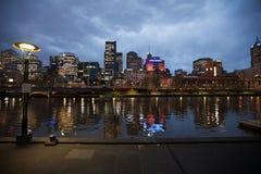 Stad van Melbourne Australië Stock Foto