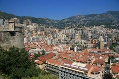 Stad van Monaco stock afbeeldingen