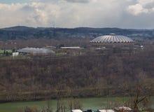 Stad van Morgantown in West-Virginia Royalty-vrije Stock Foto's