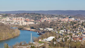 Stad van Morgantown in West-Virginia Stock Foto's