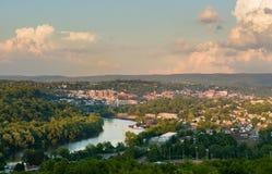 Stad van Morgantown in West-Virginia Stock Foto