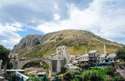 Stad van mostar royalty-vrije stock foto