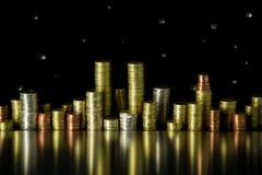 Stad van muntstukken Stock Foto's