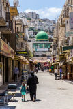 Stad van Nablus, Palestina Stock Fotografie