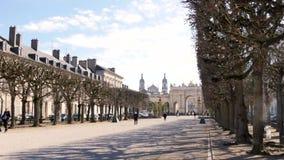 Stad van Nancy, Frankrijk stock video