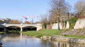 Stad van Nancy, Frankrijk stock footage