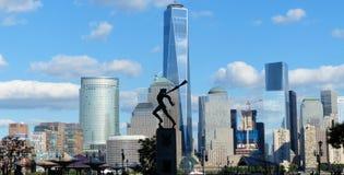 Stad van New York bekeek van Jersey Royalty-vrije Stock Foto's