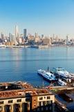 Stad van New York bekeek van New Jersey royalty-vrije stock afbeeldingen