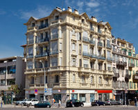 Stad van Nice - Architectuur langs Promenade des Anglais Stock Foto's