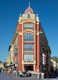Stad van Nice - Architectuur van gebouwen op de Plaats Massena Royalty-vrije Stock Foto