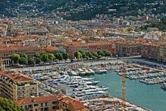 Stad van Nice - Architectuur van Haven DE Nice Stock Afbeeldingen