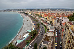 Stad van Nice - Panorama Royalty-vrije Stock Foto's