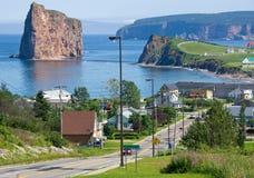 Stad van Percé Quebec, Canada Stock Afbeelding