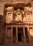 Stad van Petra en beeld van Schatkist royalty-vrije stock foto