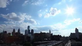 Stad van Philadelphia stock footage