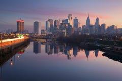 Stad van Philadelphia. Stock Foto's