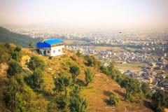 Stad van Pokhara, Nepal stock afbeeldingen