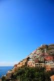 Stad van Positano, Amalfi Stock Afbeelding