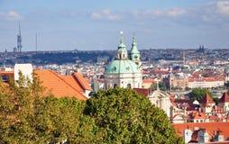 Stad van Praag in de zomer, Tsjechische Republiek, Europa Stock Foto's