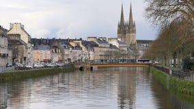 Stad van Quimper, Bretagne, Frankrijk stock videobeelden