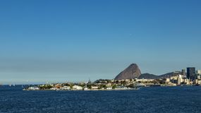 Stad van Rio de Janeiro, Brazilië Prachtige stad Het Brood van de suiker Toeristenvlek De stad van het Rio de Janeiro stock foto