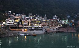 Stad van Rishikesh stock fotografie