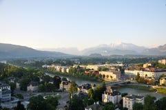 Stad van Salzburg. Stock Fotografie