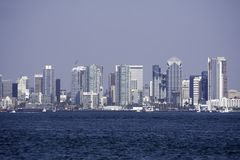 Stad van San Diego, CA baai Stock Foto
