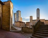 Stad van San Gimignano Stock Fotografie