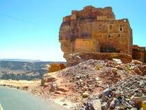 Stad van Sana 'a, straten en gebouwen van de stad in Yemen stock foto