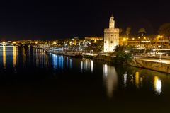 Stad van Sevilla stock afbeelding